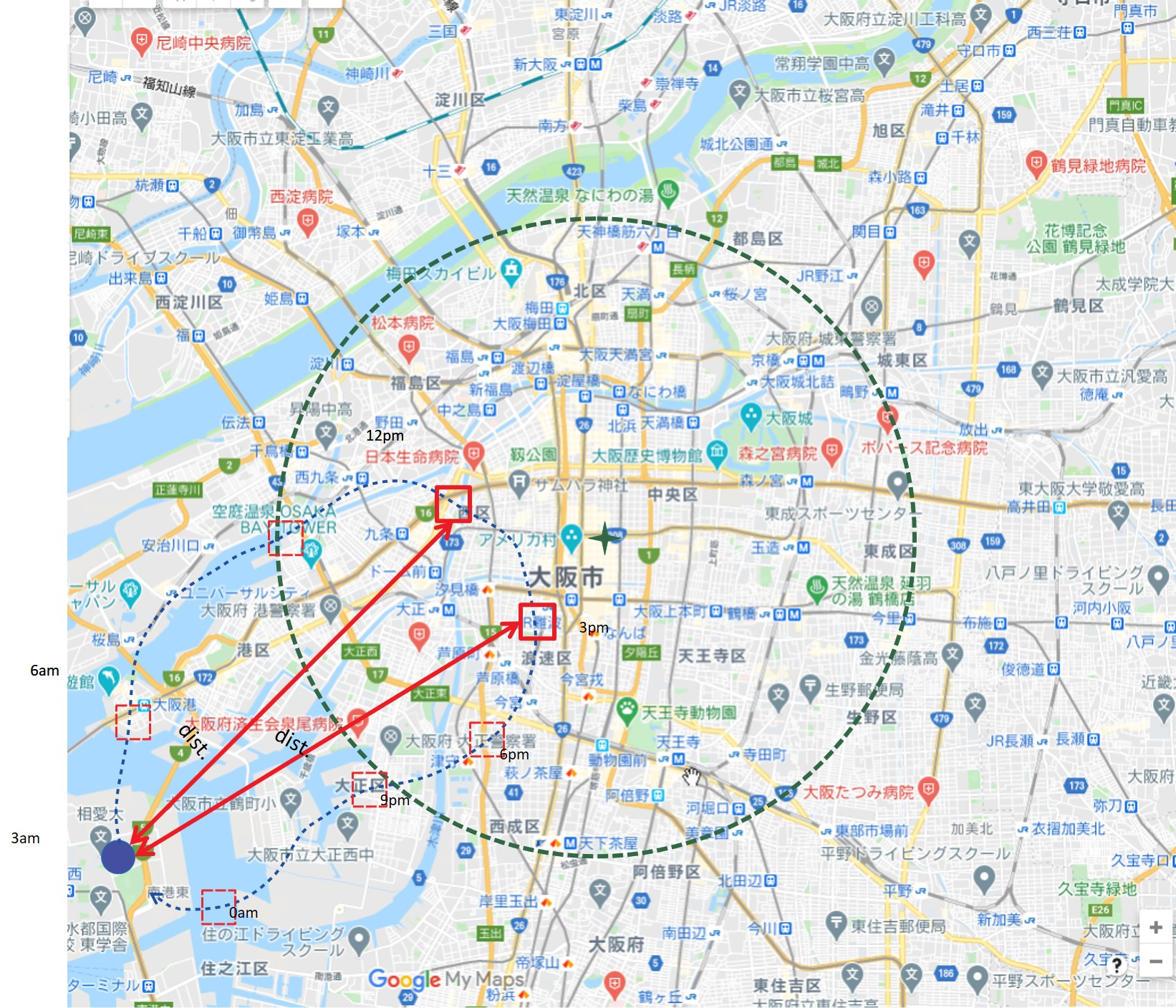 Map data  ©2021 Google