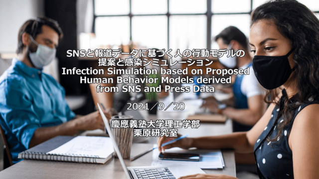 Infection Simulation based on Proposed Human Behavior Models derived from  SNS and Press Data #11